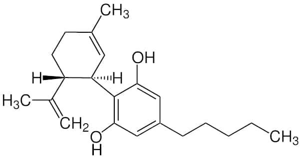 Cannabidiol Strukturformel
